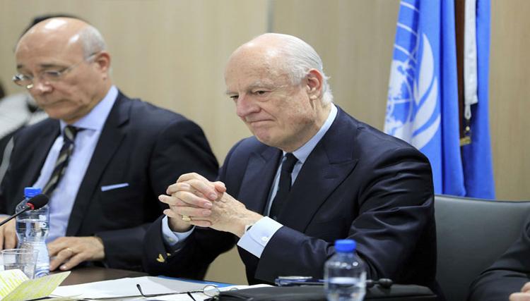 دي ميستورا هجوم حمص محاولة متعمدة لتخريب محادثات السلام
