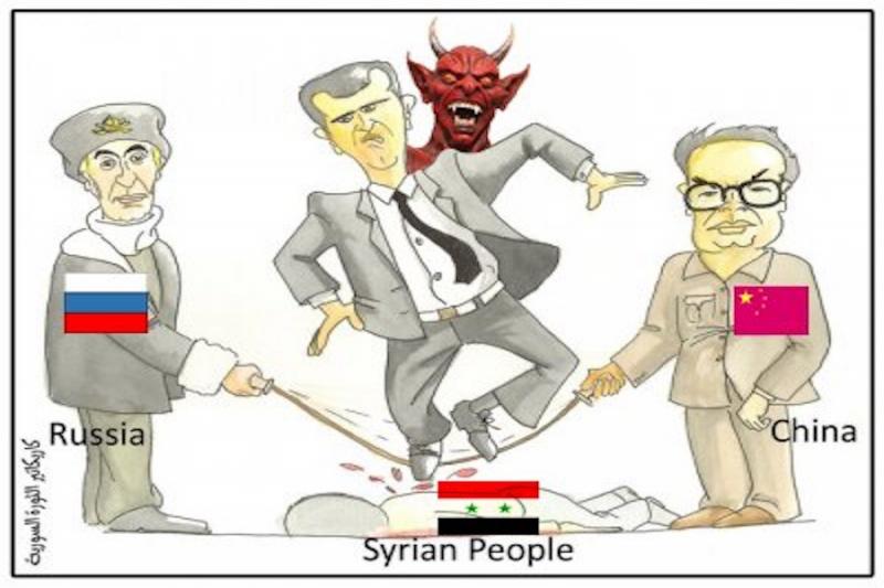 على الحبل الروسي الصيني يتابع الرقص معهتوه دمشق