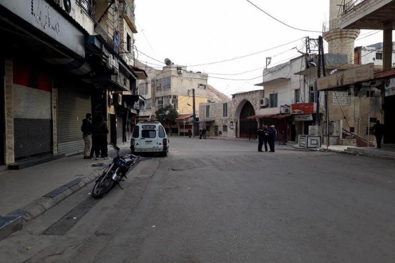 شوارع مضايا في اللحظات الاخيرة