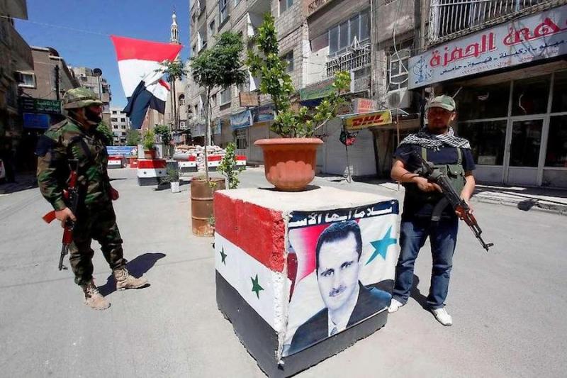 الحواجز الامنية في دمشق