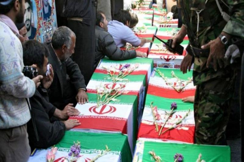 عودة الجنود الايرانيين بصناديق الخشب غلى اهلهم