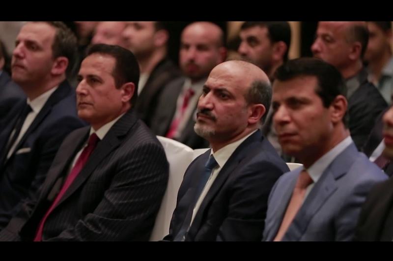 الجربا و دحلان في مؤتمر تأسيس تيار الغد 2016