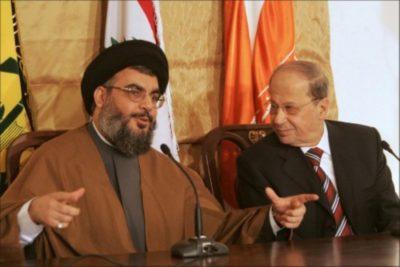 عون و نصرالله و استقالة الحريري