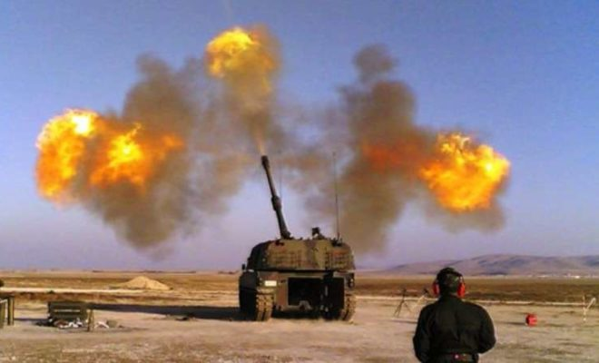 """تركيا تواصل قصفها لمواقع ميليشيا """"قسد"""" في عفرين"""