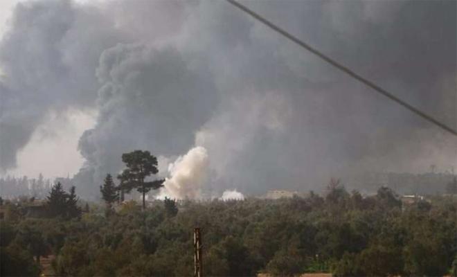 الثوار ينفون تقدم قوات عصابات الأسد في إدارة المركبات بحرستا