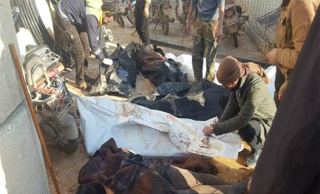 مجازر جديدة يرتكبها الغُزاة الروس في كل من سراقب و معصران في ريف إدلب
