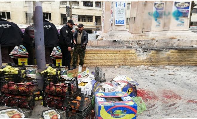 ستة شهداء و عشرات الجرحى في انفجار عبوة ناسفة في مدينة إدلب