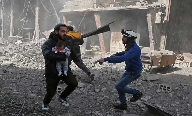 وزير الخارجية الفرنسي : قصف الغوطة هو انتهاك للقانون الانساني الدولي