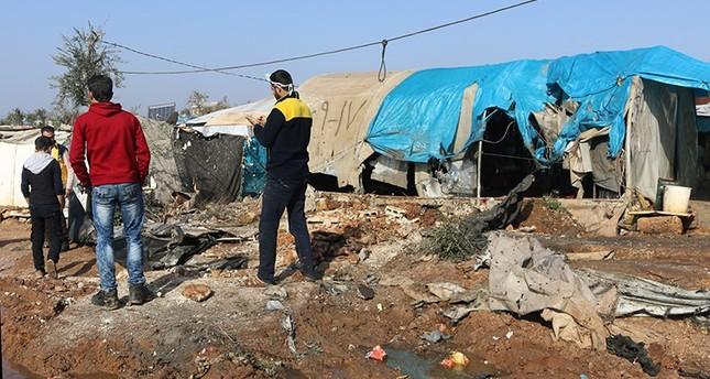 """ميليشيات وحدات حماية الشعب الكردية تقصف مخيم """" أطمة"""" شمال إدلب و توقع العديد من الجرحى"""