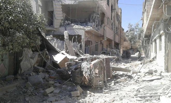 المجلس المحلي لمسرابا يعلنها بلدة منكوبة ويحمل المجتمع الدولي مسؤولية حماية المدنيين
