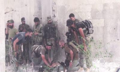 العديد من الأسرى و القتلى لعصابات الأسد على جبهات الغوطة الشرقية