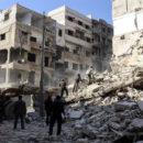 اشتباكات بين الثوار وعصابات الأسد وغارات جوية مكثفة من طيران الغُزاة الروس على الغوطة الشرقية
