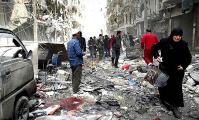 مجدداً عصابات الأسد تقصف الغوطة الشرقية بغاز الكلور