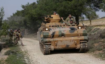 القوات المشاركة بغصن الزيتون تعلن السيطرة على مدينة عفرين بشكل كامل