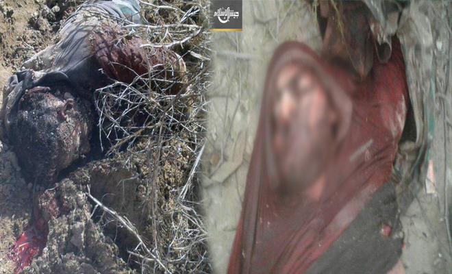 ألغام الثوار في الغوطة تحصد عشرات القتلى من عصابات الأسد في مزارع الشيفونية