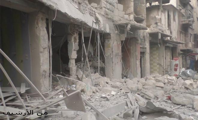 جرحى ودمار كبير نتيجة الغارات المكثفة من طيران الإجرام الأسدي على إدلب و ريفها
