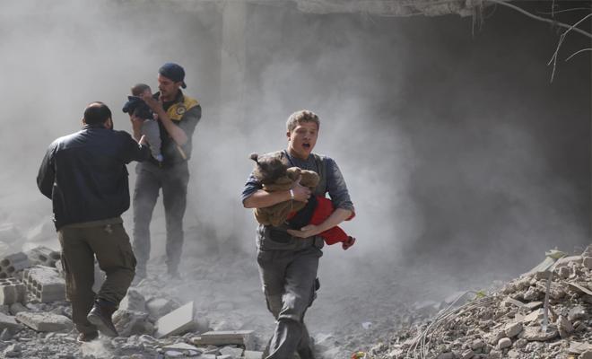 تصعيد القصف على الغوطة الشرقية وعدة مجازر بحق النساء و الأطفال