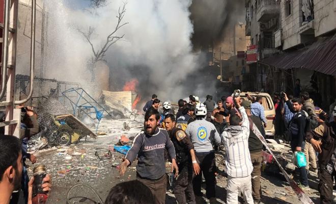 سبعة شهداء و عشرات الجرحى نتيجة انفجار مجهول في مدينة الباب بريف حلب
