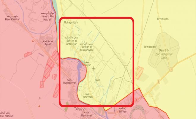 عصابات الأسد الإرهابية تتقدم في ريف دير الزور الغربي و قسد تتراجع
