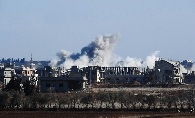تصعيد عنيف من قبل عصابات الأسد و 30 غارة جوية تستهدف منازل المدنيين في ريف حمص الشمالي