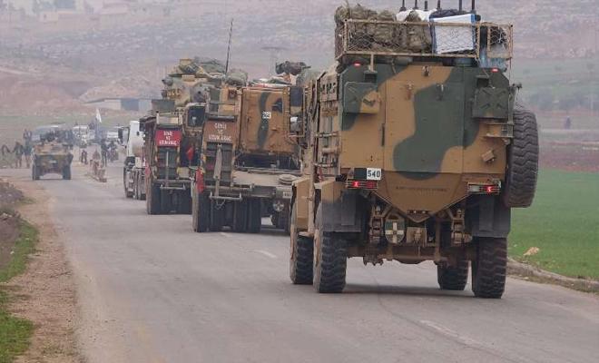 دخول رتل عسكري للقوات التركية باتجاه جنوب شرق إدلب