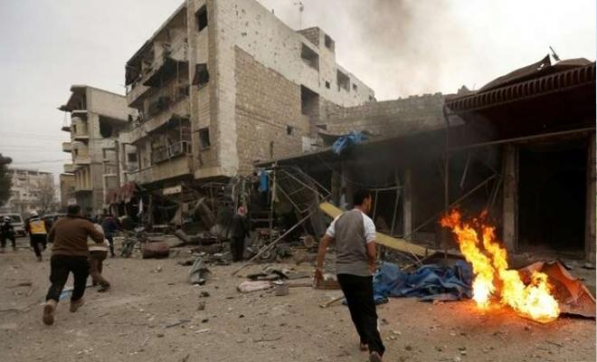 شهداء وجرحى بانفجاران متتاليان في جسر الشغور بريف إدلب