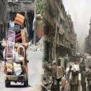 عصابات الأسد والميليشيات المساندة لها تقوم بتعفيش مخيم اليرموك