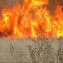 كعادتها في كل سنة ... قذائف مدفعية الإجرام الأسدي تحرق محاصيل الفلاحين بريف حماة