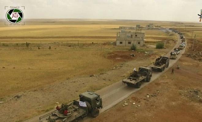 تحسباً لأي هجمة من عصابات الأسد في الجنوب السوري , الجيش الحر يرفع الجاهزية