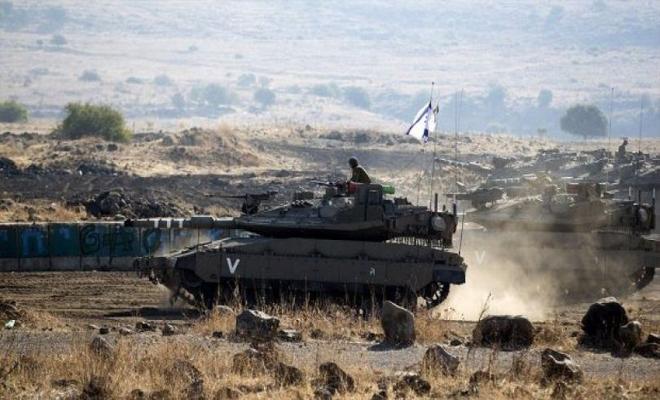 جيش الاحتلال الإسرائيلي يعلن عن تدريبات عسكرية في هضبة الجولان