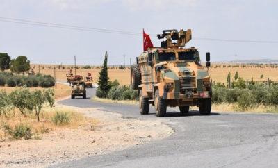 رئاسة الأركان التركية تعلن تسييرها الدورية الـ 17 في منبج شرق مدينة حلب