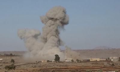طيران الغُزاة الروس الحربي ينفذ عشرات الغارات على مناطق عدة بريف درعا