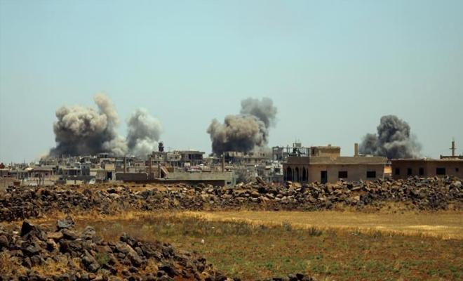 غارات للغُزاة الروس تؤجل عملية التهجير القسري في درعا