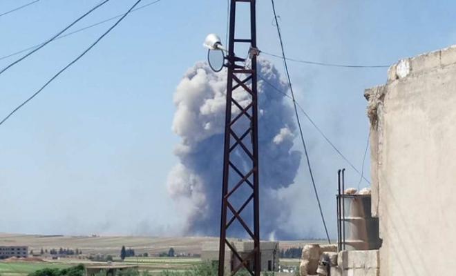 انفجار مستودع أسلحة تابع للفرقة الرابعة غرب حماة