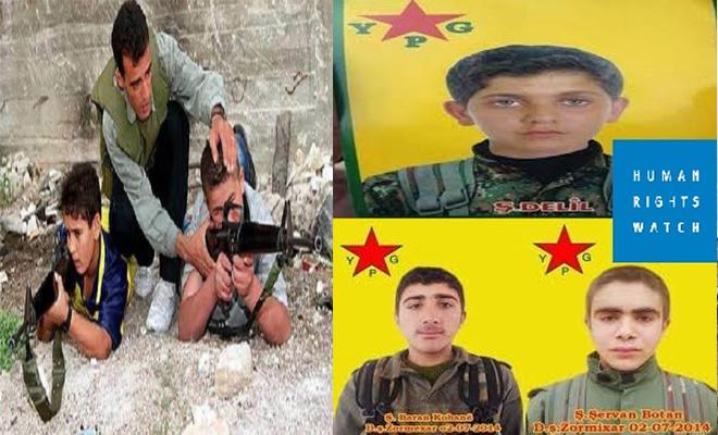 ميليشيا وحدات حماية الشعب الكردية تجند الأطفال النازحين