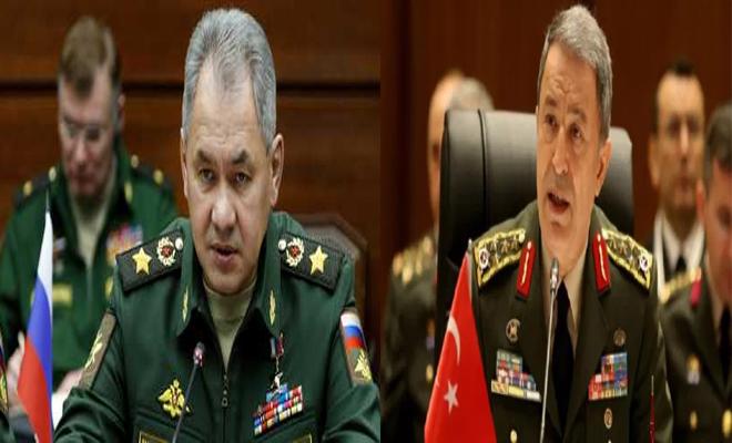 وزير الدفاع التركي ونظيره الروسي يتباحثان هاتفياً الوضع في سوريا