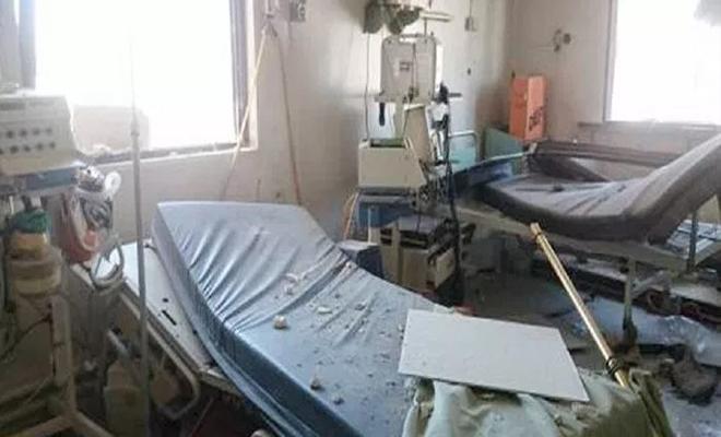 طيران الإجرام الأسدي و الغُزاة الروس يستهدف ريف حماة ويتسبب بخروج مشفى عن الخدمة