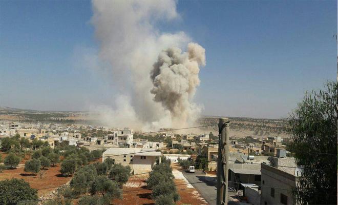 عصابات الأسد والغُزاة الروس يقصفان ريف حماة والثوار يردون