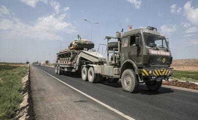 من جديد الجيش التركي يرسل تعزيزات عسكرية للحدود مع سوريا
