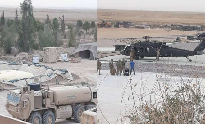 التحالف الدولي يرسل تعزيزات عسكرية إلى حقل التنك في ديرالزور