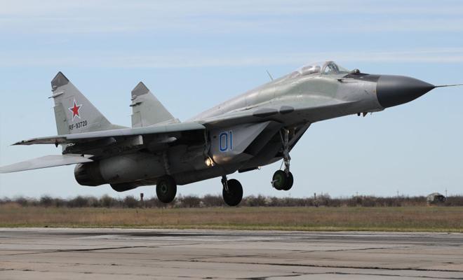 سقوط طائرة مقاتلة من طراز ميغ 29 في ضواحي موسكو