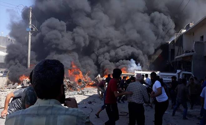 شهداء وجرحى بانفجار مجهول المصدر في مدينة اعزاز
