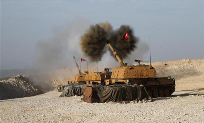 قصف مواقع الميليشيات الكردية الإرهابية من قبل القوات التركية شرقي نهر الفرات