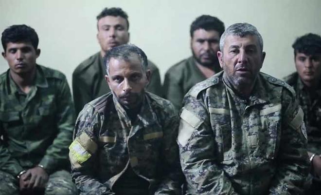 أسرى من ميليشيا قسد الكردية الإرهابية لدى تنظيم داعش