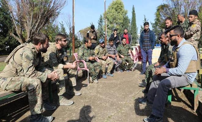 اجتماع لقادة التحالف وميليشيا قسد في قرية شمال الحسكة