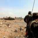 حادث مروري يودي بحياة عشرات العناصر من عصابات الأسد الإرهابية في السويداء