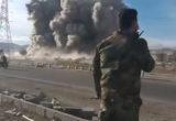 عصابات الأسد الإرهابية تنسف الأبنية السكنية في حي القابون بدمشق