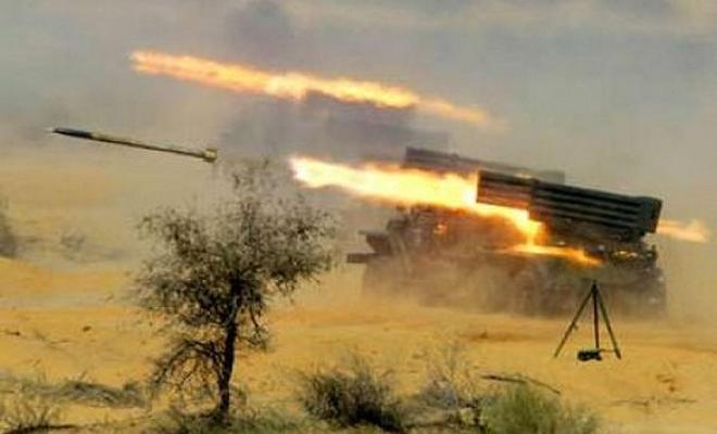 قصف مكثف لعصابات الأسد الإرهابية براجمات الصواريخ على ريف إدلب