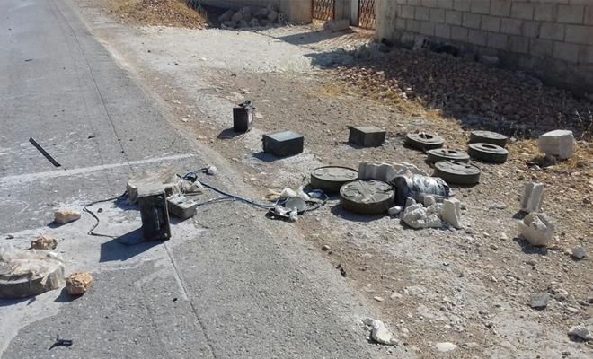 مقتل 6 ضباط لعصابات الأسد الإرهابية بانفجار لغم في مدينة درعا