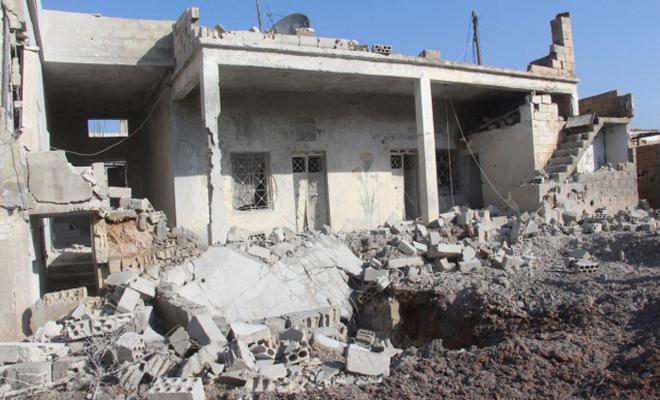 عصابات الأسد الإرهابية تقصف جرجناز بريف إدلب والحصيلة؟؟؟؟؟؟